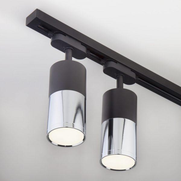 Трековый светодиодный светильник для однофазного шинопровода Avantag Черный матовый/хром 6W 4200K LTB27 5