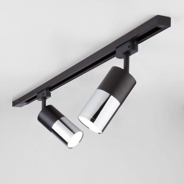 Трековый светодиодный светильник для однофазного шинопровода Avantag Черный матовый/хром 6W 4200K LTB27 4