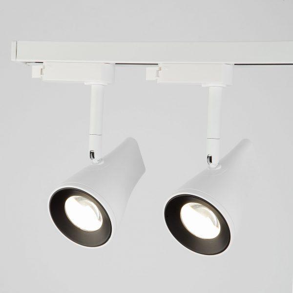 Трековый светодиодный светильник для однофазного шинопровода Hardi Белый 9W 4200K LTB18 6