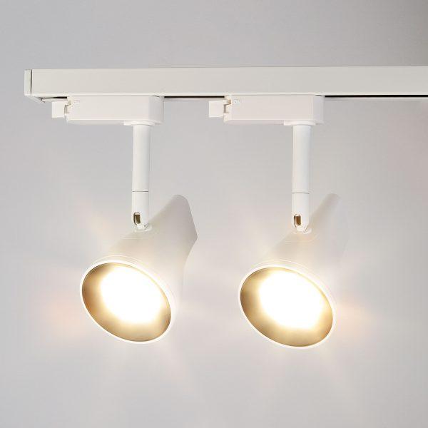 Трековый светодиодный светильник для однофазного шинопровода Hardi Белый 9W 4200K LTB18 9