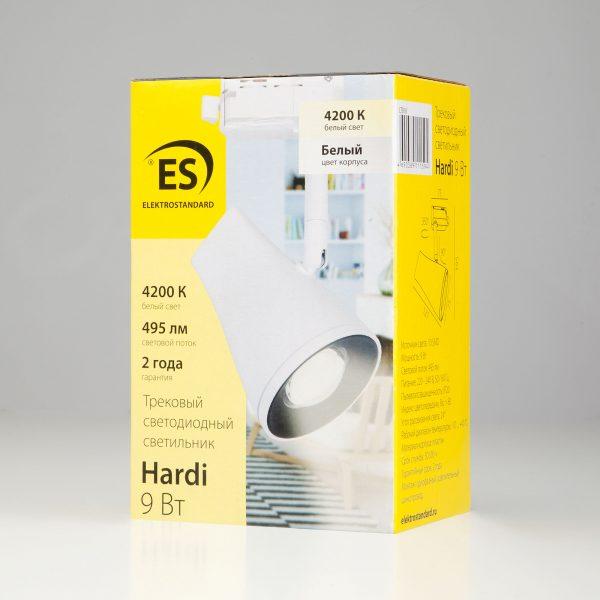Трековый светодиодный светильник для однофазного шинопровода Hardi Белый 9W 4200K LTB18 13