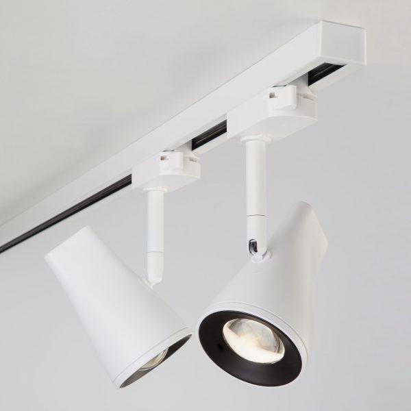 Трековый светодиодный светильник для однофазного шинопровода Hardi Белый 9W 4200K LTB18 5