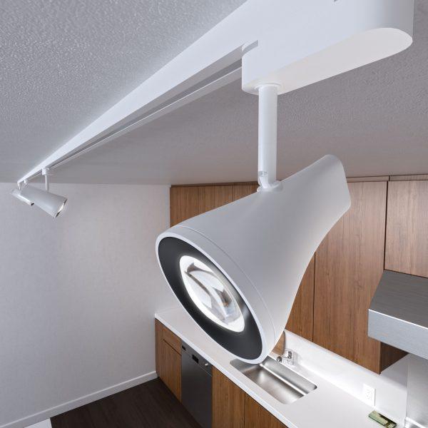 Трековый светодиодный светильник для однофазного шинопровода Hardi Белый 9W 4200K LTB18 2
