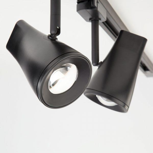 Трековый светодиодный светильник для однофазного шинопровода Hardi Черный 9W 4200K LTB18 5