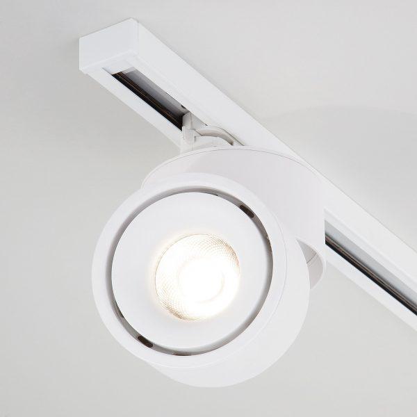 Трековый светодиодный светильник для однофазного шинопровода Klips Белый 15W 4200K LTB21 6