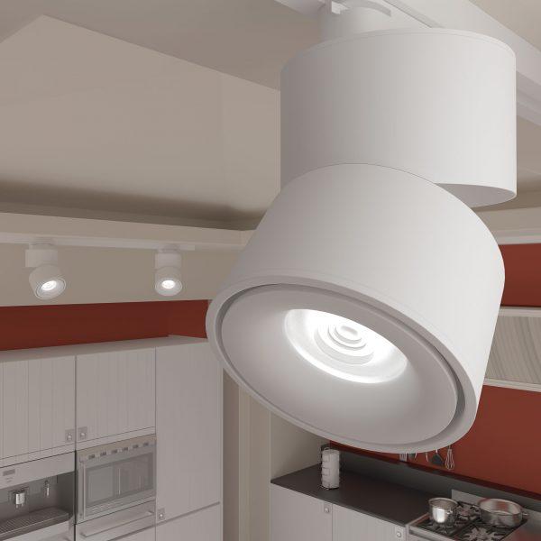 Трековый светодиодный светильник для однофазного шинопровода Klips Белый 15W 4200K LTB21 2