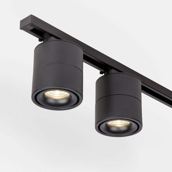 Трековый светодиодный светильник для однофазного шинопровода Klips Черный 15W 4200K LTB21 4
