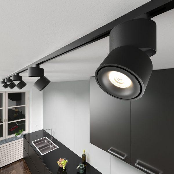 Трековый светодиодный светильник для однофазного шинопровода Klips Черный 15W 4200K LTB21 2