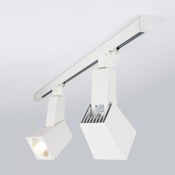 Трековый светодиодный светильник для трехфазного шинопровода Perfect Белый 38W 3