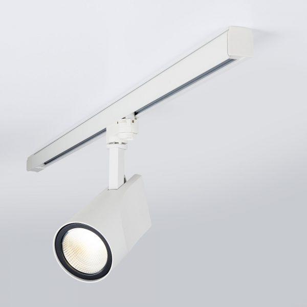 Трековый светодиодный светильник для трехфазного шинопровода Vista Белый 32W 7