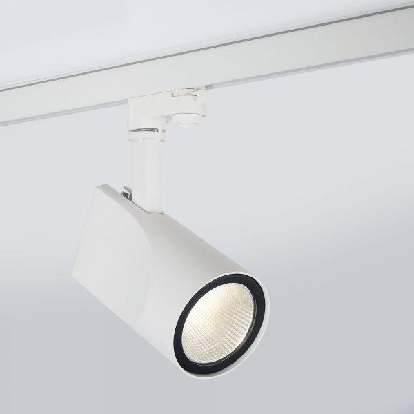Трековый светодиодный светильник для трехфазного шинопровода Vista Белый 32W 9
