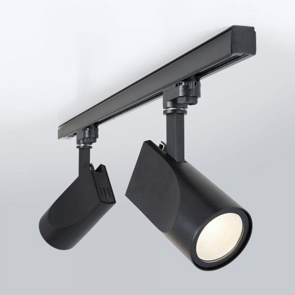 Трековый светодиодный светильник для трехфазного шинопровода Vista Черный 32W 4