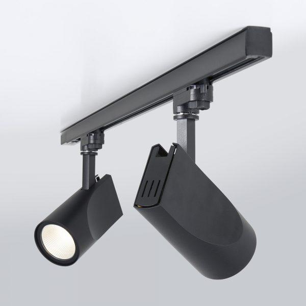Трековый светодиодный светильник для трехфазного шинопровода Vista Черный 32W 5