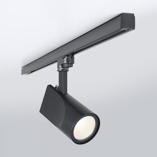 Трековый светодиодный светильник для трехфазного шинопровода Vista Черный 32W 6