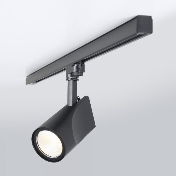 Трековый светодиодный светильник для трехфазного шинопровода Vista Черный 32W 7