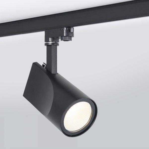 Трековый светодиодный светильник для трехфазного шинопровода Vista Черный 32W 9