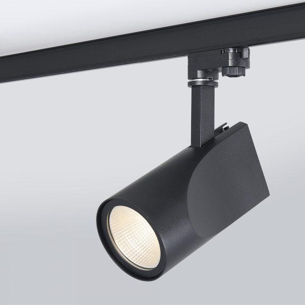 Трековый светодиодный светильник для трехфазного шинопровода Vista Черный 32W 8