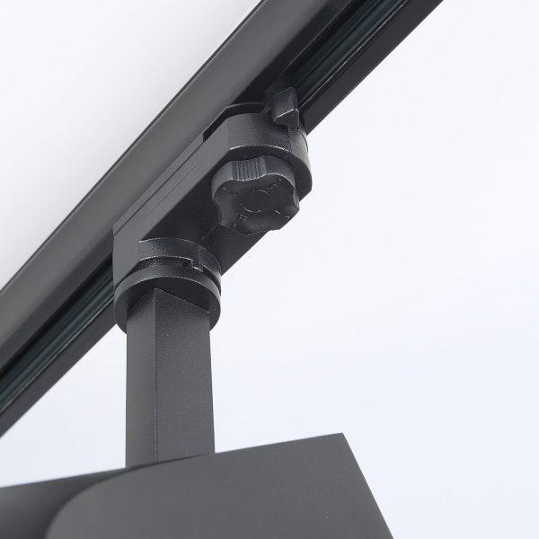 Трековый светодиодный светильник для трехфазного шинопровода Vista Черный 32W 3