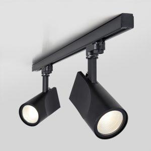 Трековый светодиодный светильник для трехфазного шинопровода Vista Черный 32W 3300K LTB15