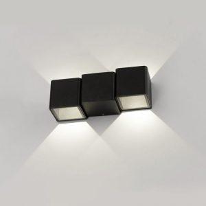 Triton черный уличный настенный светодиодный светильник 1694 TECHNO LED