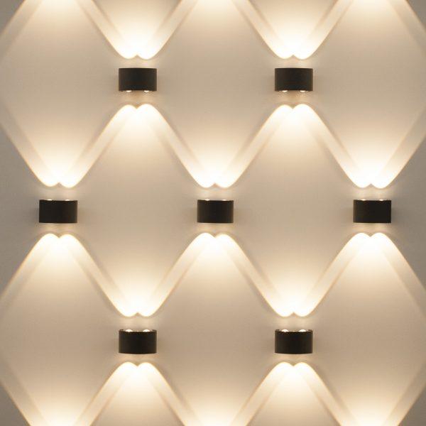 TWINKY DOUBLE серый уличный настенный светодиодный светильник 1555 TECHNO LED 2