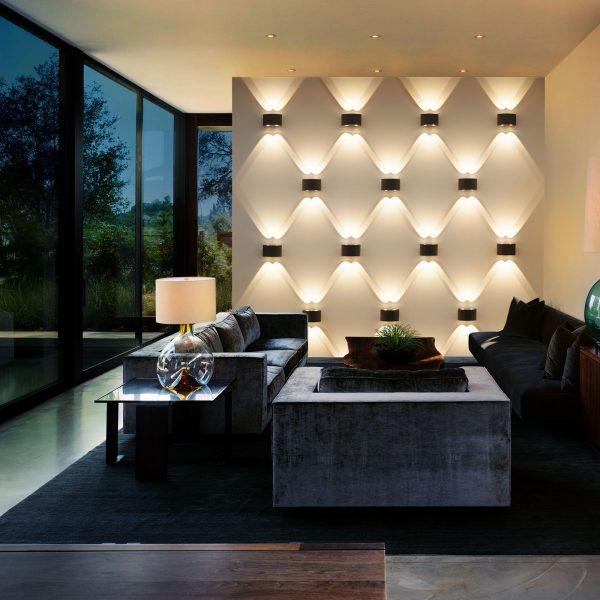 TWINKY DOUBLE серый уличный настенный светодиодный светильник 1555 TECHNO LED 1