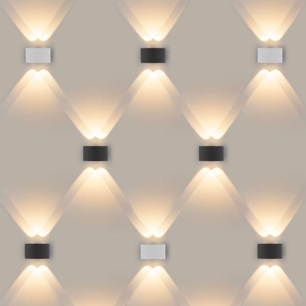 TWINKY DOUBLE серый уличный настенный светодиодный светильник 1555 TECHNO LED 4