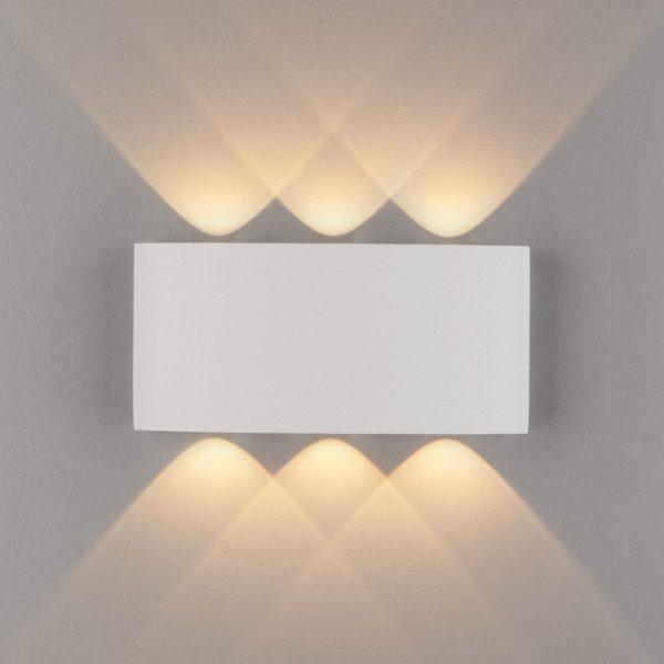 TWINKY TRIO белый уличный настенный светодиодный светильник 1551 TECHNO LED 1