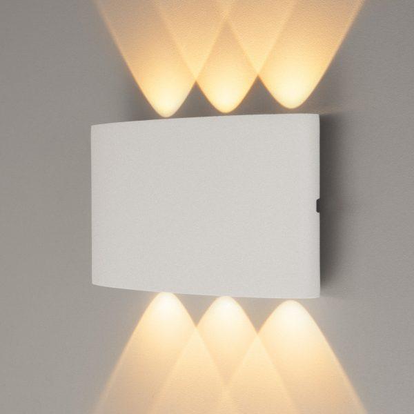 TWINKY TRIO белый уличный настенный светодиодный светильник 1551 TECHNO LED 2