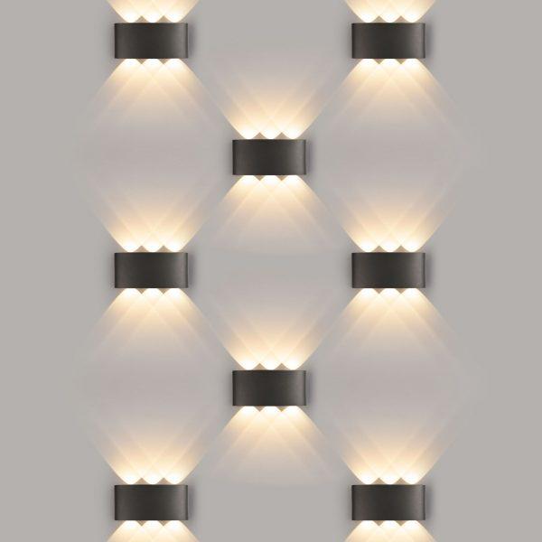 TWINKY TRIO серый уличный настенный светодиодный светильник 1551 TECHNO LED 2