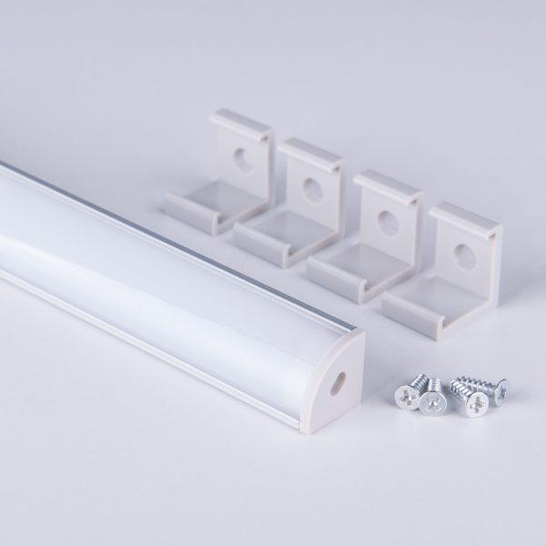 Угловой алюминиевый профиль для светодиодной ленты LL-2-ALP008 2