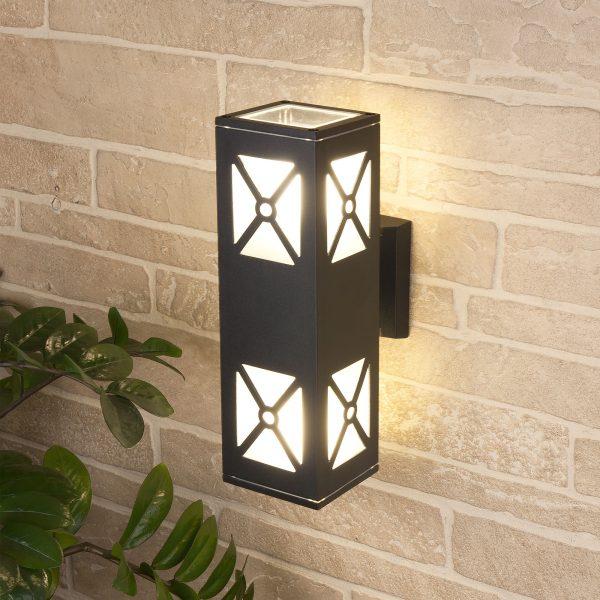 Уличный настенный светильник 1405 TECHNO черный 1405 TECHNO 3
