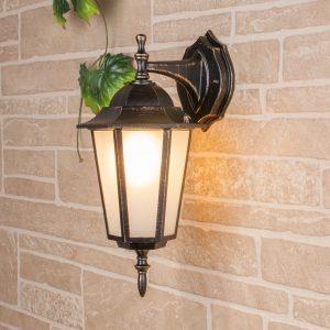 уличный настенный светильник GL 1004D черное золото