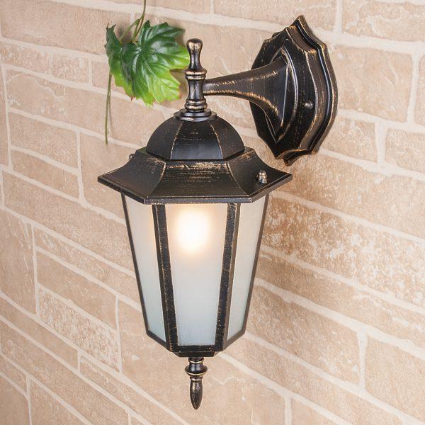 уличный настенный светильник GL 1004D черное золото 1