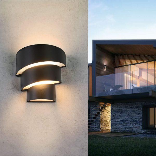 HELIX черный уличный настенный светодиодный светильник 1535 TECHNO LED 2