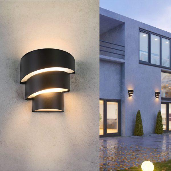 HELIX черный уличный настенный светодиодный светильник 1535 TECHNO LED 3
