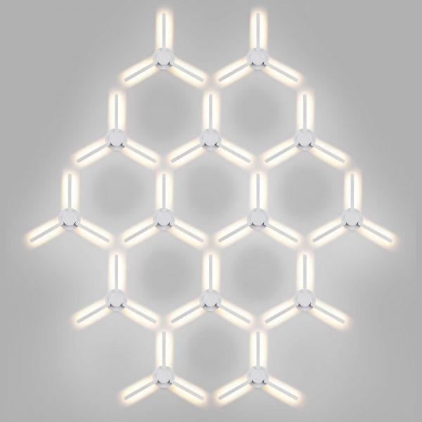 LEVER белый уличный светодиодный светильник с поворотным механизмом 1665 TECHNO LED 6