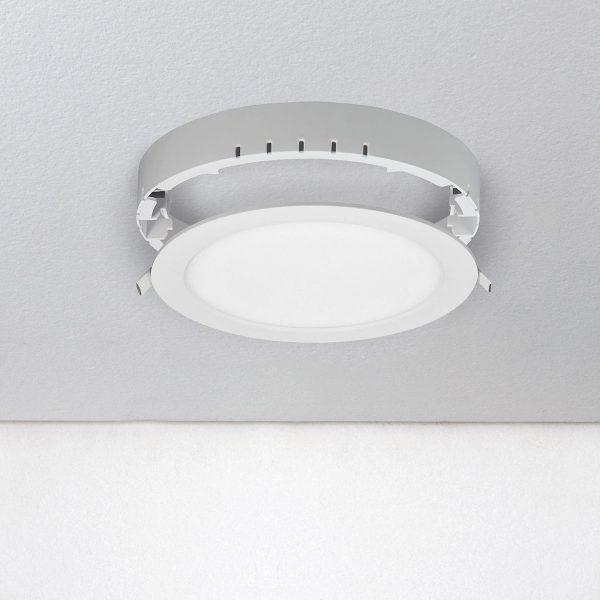 Универсальный накладной/встраиваемый потолочный светодиодный светильник DLR020 18W 4200K 3