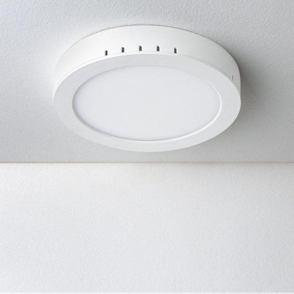 Универсальный накладной/встраиваемый потолочный светодиодный светильник DLR020 18W 4200K 1