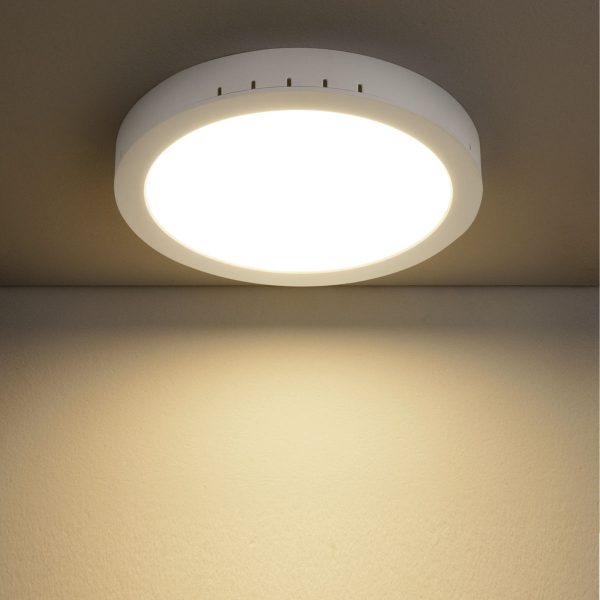 Универсальный накладной/встраиваемый потолочный светодиодный светильник DLR020 24W 4200K