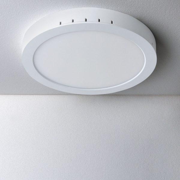 Универсальный накладной/встраиваемый потолочный светодиодный светильник DLR020 24W 4200K 1