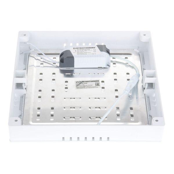 Универсальный накладной/встраиваемый потолочный светодиодный светильник DLS020 18W 4200K 7