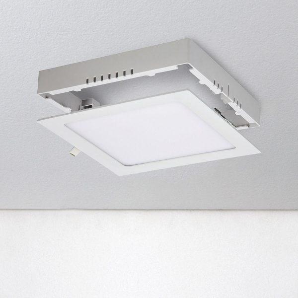 Универсальный накладной/встраиваемый потолочный светодиодный светильник DLS020 18W 4200K 3