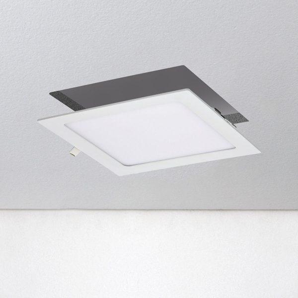 Универсальный накладной/встраиваемый потолочный светодиодный светильник DLS020 18W 4200K 2