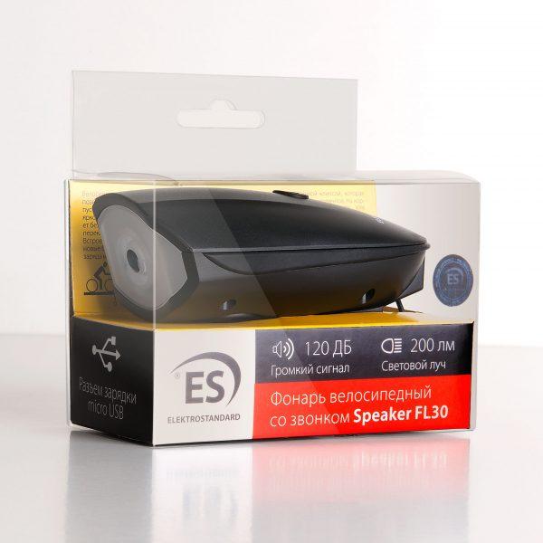 Велофонарь светодиодный с кнопкой звонка Speaker 4