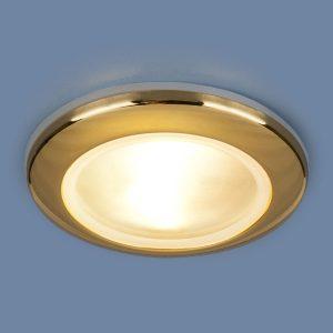 Влагозащищенный точечный светильник 1080 MR16 GD золото