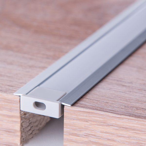 Встраиваемый алюминиевый профиль для светодиодной ленты LL-2-ALP007 2