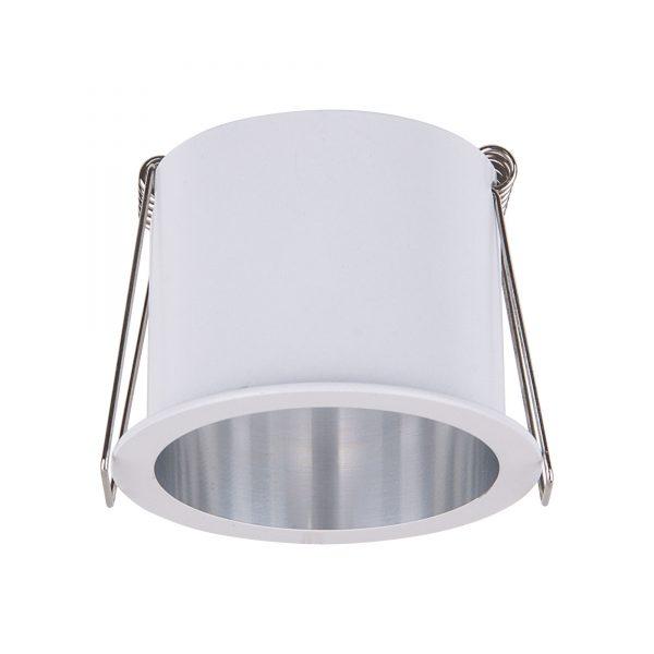 Встраиваемый потолочный светильник 7004 MR16 WH/SL белый/серебро 1
