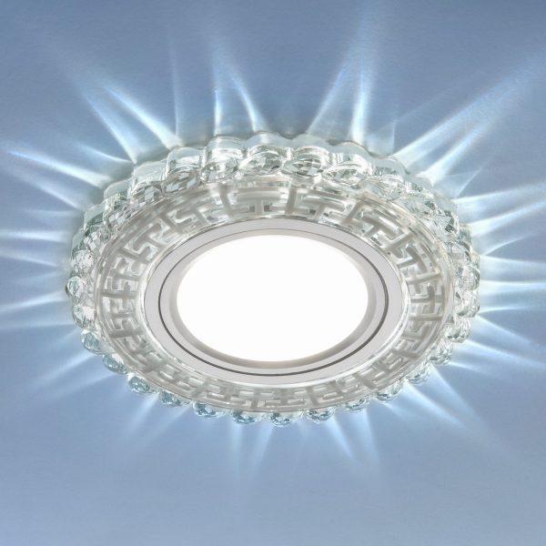 Встраиваемый потолочный светильник с LED подсветкой 2217 MR16 CL прозрачный 1