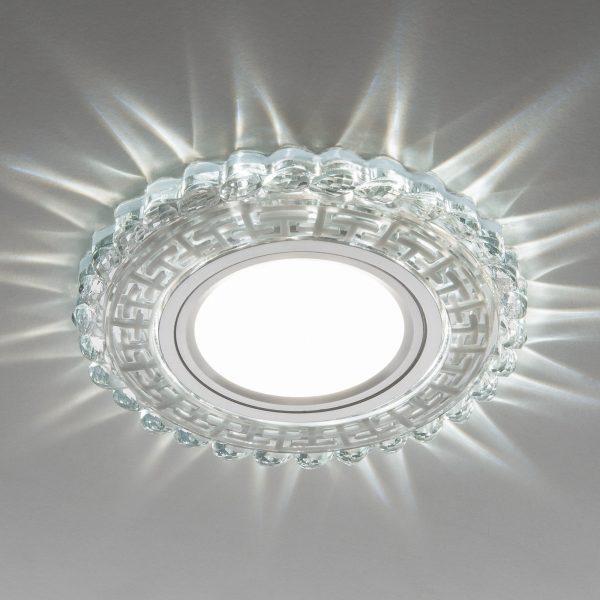 Встраиваемый потолочный светильник с LED подсветкой 2217 MR16 CL прозрачный 2